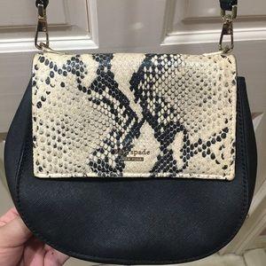 HP🎉 Kate Spade Black Snake Crossbody Purse Bag